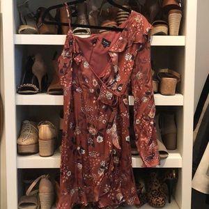 Rust Colored Bardot Dress